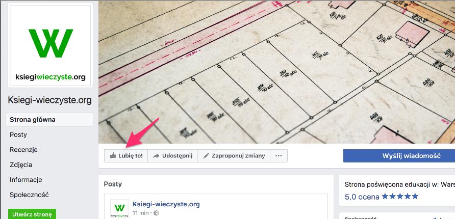 Ksiegi-wieczyste.org na Facebooku