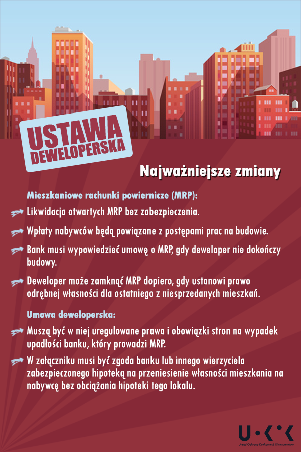 Zmiany w ustawie deweloperskiej - infografika.