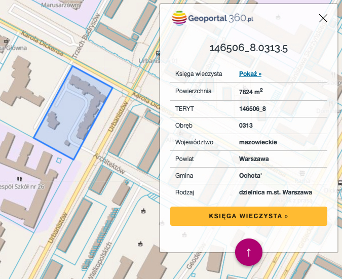 Geoportal360.pl - mapa Polski z numerami działek