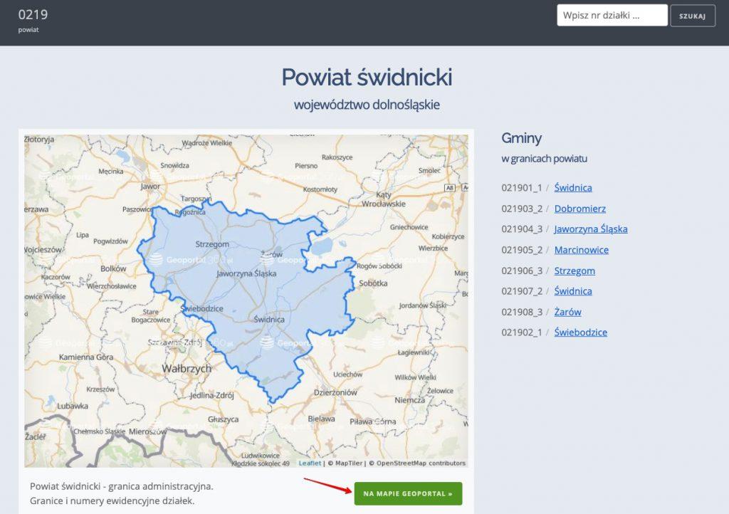 Obręb ewidencyjny na mapie Polski - Geoportal360.pl