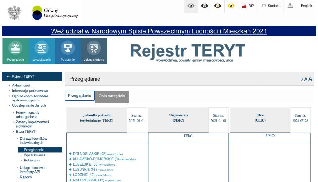 Identyfikator obrębu ewidencyjnego w Rejestrze TERYT